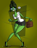 She Hulk Colors by kungfumonkey
