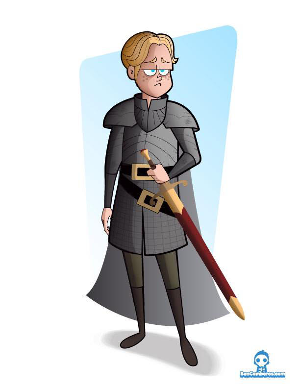 Brienne of  Tarth by kungfumonkey