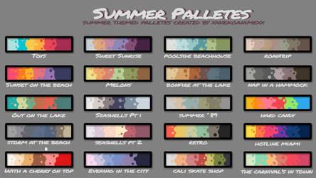 Free Summer Palettes by xXNekoanimeXx