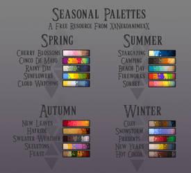 Seasonal Palettes by xXNekoanimeXx