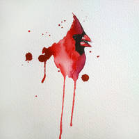 Red Cardinal watercolor by excentric