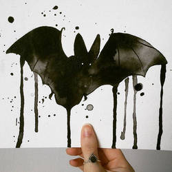bat watercolor by excentric