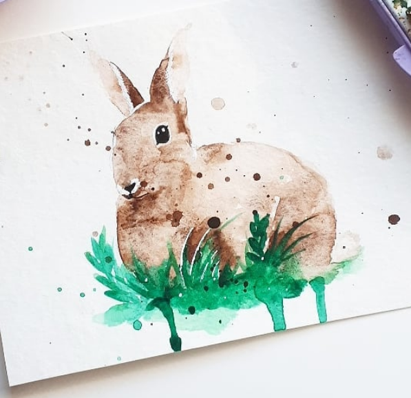 bunny watercolor by excentric