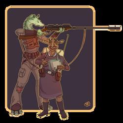Bounty Hunter Duo by Ryan-Rhodes