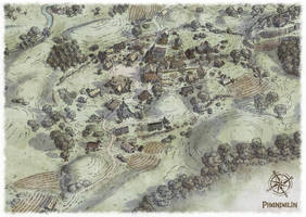 The village of Phandalin by Scarecrovv