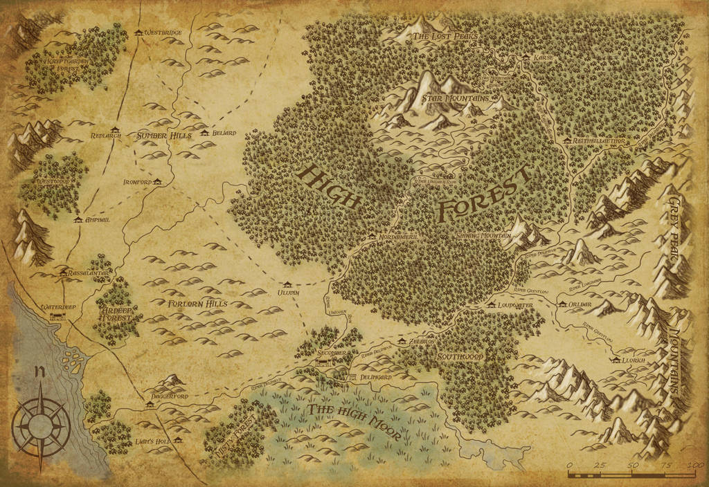 High Forest Map A3 by Scarecrovv