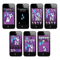 Rarity iPhone and iTouch Theme by FozzyWig