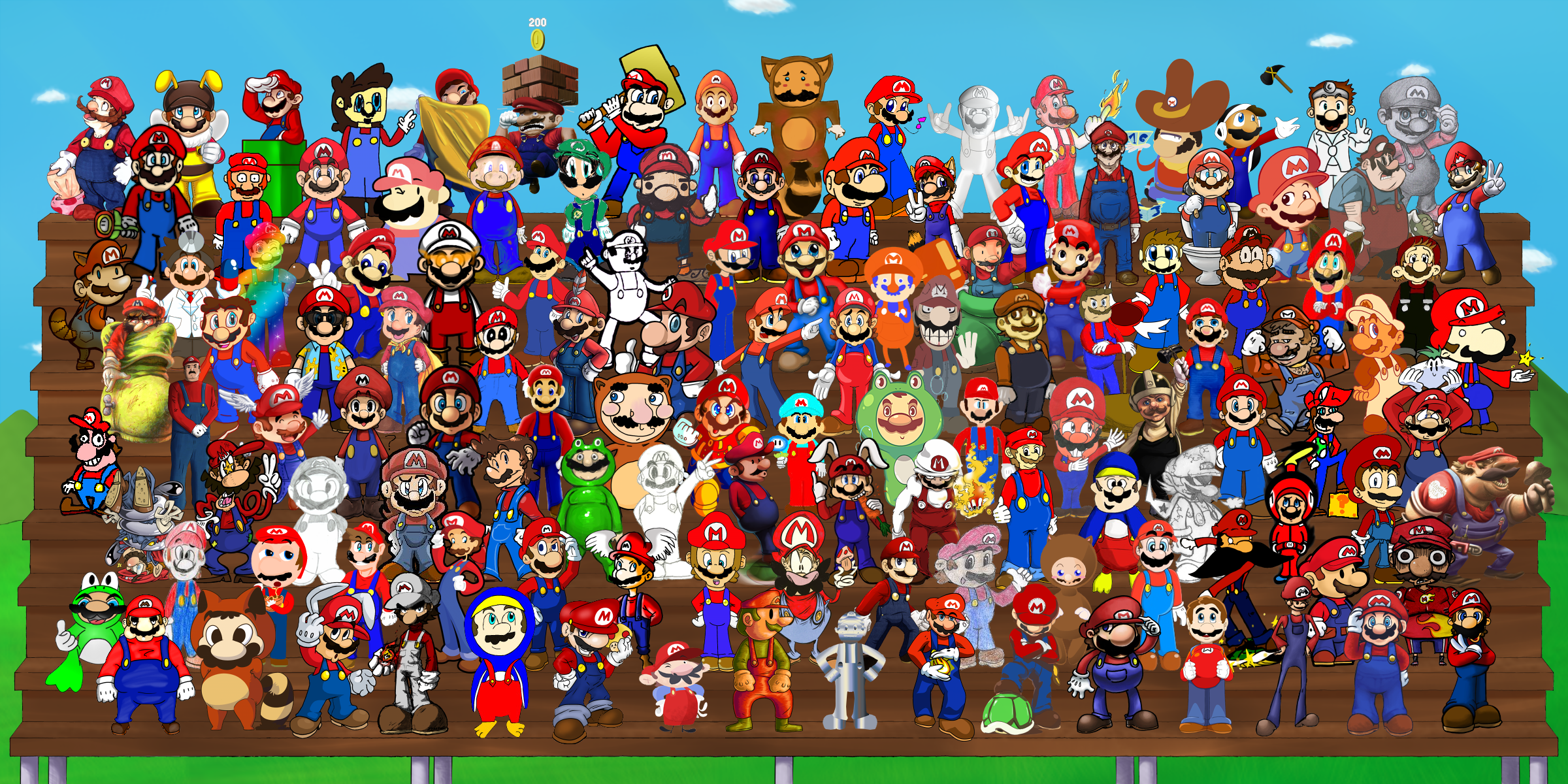 Super Mario 128 by DogmanSP