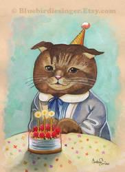 Birthday Kitty by BlueBirdie