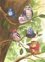 Dreambirds llustration by BlueBirdie