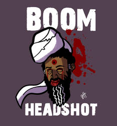 BOOM Headshot by JoeHoganArt