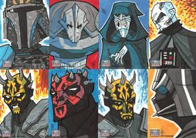 Topps Star Wars G7 - 09 Baddies by JoeHoganArt