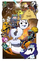Adventure Wars - Collaboration With Mike Vasquez by JoeHoganArt
