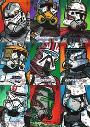 Topps SWGF Series 2 - 02 - Clone Commanders by JoeHoganArt