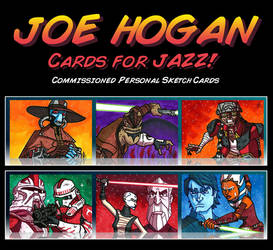 Commish - Cards for Jazz by JoeHoganArt
