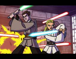 Commish - Jedi Team by JoeHoganArt