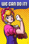 NYCC Print - We Can Do It - Princess Peach by JoeHoganArt
