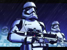 First Order Stormtroopers by JoeHoganArt