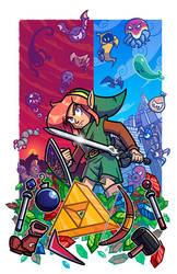 Epic Game Print - Zelda - Link to the Past by JoeHoganArt