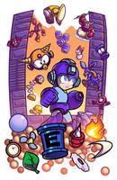 Epic Game Print - Mega Man 2 by JoeHoganArt