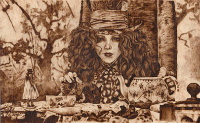 A Woodburned Me Hatter 1 by valdina13
