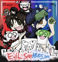 EvilSquares inc. anniversary by Chocoreaper