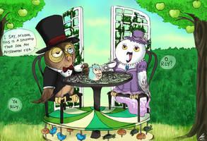 Owltober 11th: OWLfternoon Tea by Chocoreaper