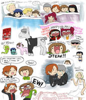 Persona 4 doodles by Chocoreaper