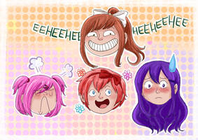 Doodled some Dokis by Chocoreaper