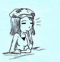 Sketch of myself by mia-asai