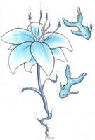 Blue Flower by mia-asai