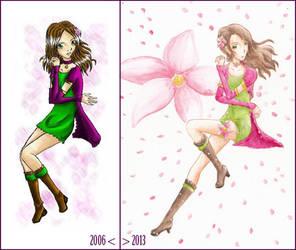 Magical Flower Girl 2006/2013 by mia-asai