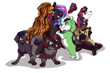 :Gift: Birthday Puppers by LupiArts