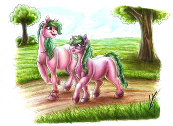:COMM: Sisters Walk by LupiArts