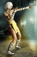 Diablo III default monk by cosplayerotica