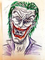 Primer boceto rapido de Joker by Kyan-Uto