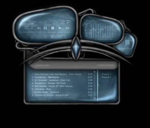 Brushed Steel WinAMP 3 skin v2 by butters4life