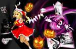 Flandre Scarlet in Halloween Land-Happy Halloween! by Sully-Evilyan