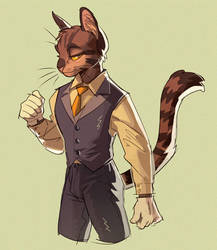 dapper cat by murkbone