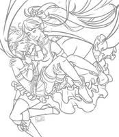 PMMM - Kyoko bestgirl x Sayaka bluehairgirl by Yseulta