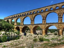 Pont du Gard by MisterKrababbel