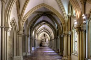 The Cloister At Klosterneuburg Abbey by MisterKrababbel