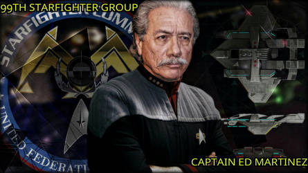 Captain Ed Martinez.. C.O. 99th Starfighter Group by StalinDC