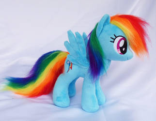 Rainbow Dash small plush faux fur by Epicrainbowcrafts