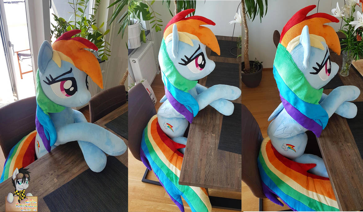 Lifesize Rainbow Dash 50 Inches 130cm Long By Epicrainbowcrafts