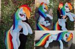 Lifesize Rainbow Dash plushie 130cm / 50 inch by Epicrainbowcrafts