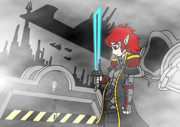Warhammer 40k : Officier Crista by DrSGrowth