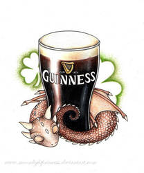 Guiness beer dragon by MoonlightPrincess