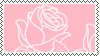 Pink rose STAMP by Purrminator