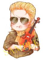 Chibi Fiddle Kaz Keychain by suzanna8767